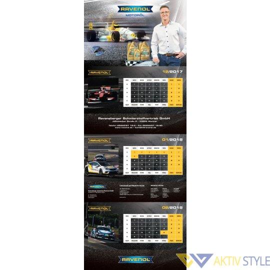 Фирменный настенный календарь RAVENOL® Ralf Schumacher