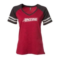 Женская футболка AMSOL с V-образным вырезом